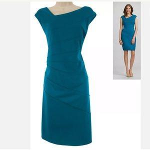 14W 1X NWT▪️TEAL PONTE KNIT SHEATH Dress Plus Size